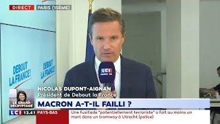 Violences à Paris: Nicolas Dupont-Aignan réagit sur LCI