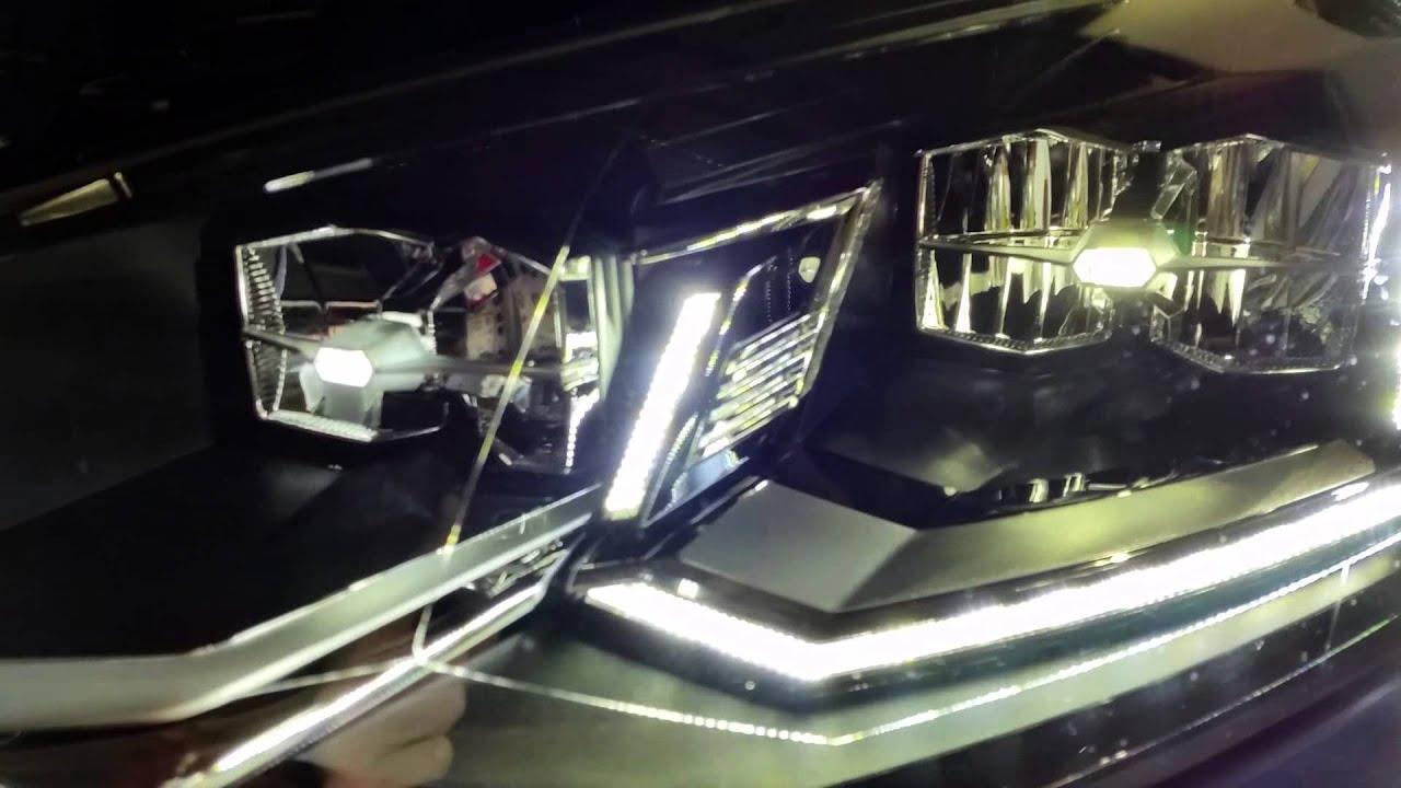 Fari full led Polo 6C - YouTube