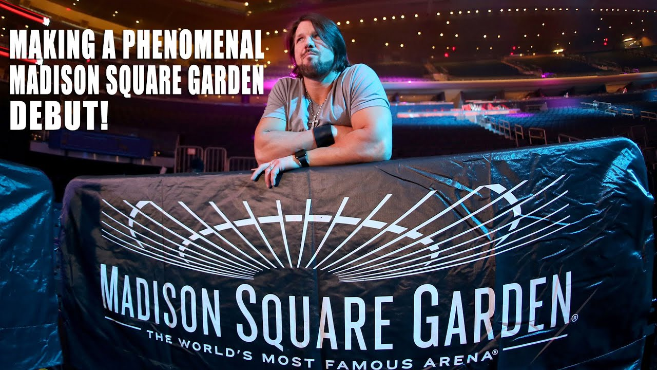 Follow aj styles on his first night in madison square - Madison square garden event schedule ...