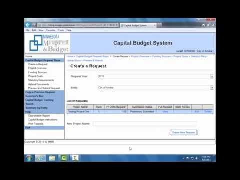 Capital Budget System: Local User Training