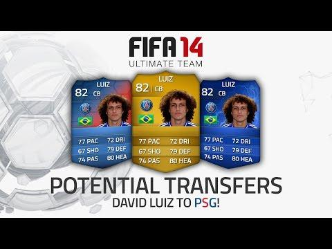 POTENTIAL SUMMER TRANSFERS! - DAVID LUIZ TO PSG FOR £50MILLION! | FIFA 14 Ultimate Team