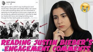 JUSTIN BIEBER IS ENGAGED?! REACTING TO HIS FACEBOOK COMMENTS | Just Sharon