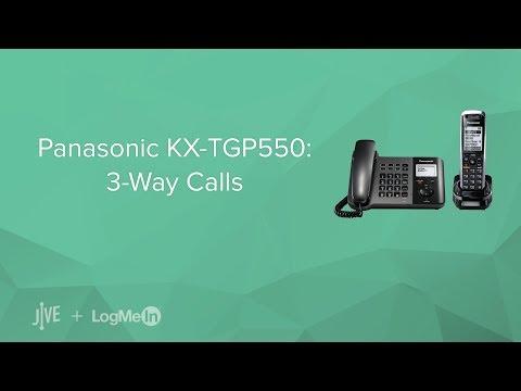 Panasonic KX-TGP550 -- How Do I Start A 3-way Call?