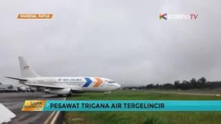Pesawat Trigana Air Tergelincir di Bandara Wamena