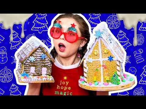 4 пряничных домика без выпечки / Дом из печенья / Проверяю рецепты из интернета / Фудхаки 🐞 Afinka