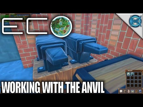 Eco | Working With The Anvil | Let's Play Eco Gameplay | S01E19