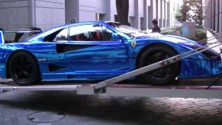 SuperCar Ferrari F40 LM Blue Chrome Wrapping Special Body!! OFFICE-K TOKYO
