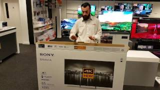Sony KD65EX8596 unboxing and demo
