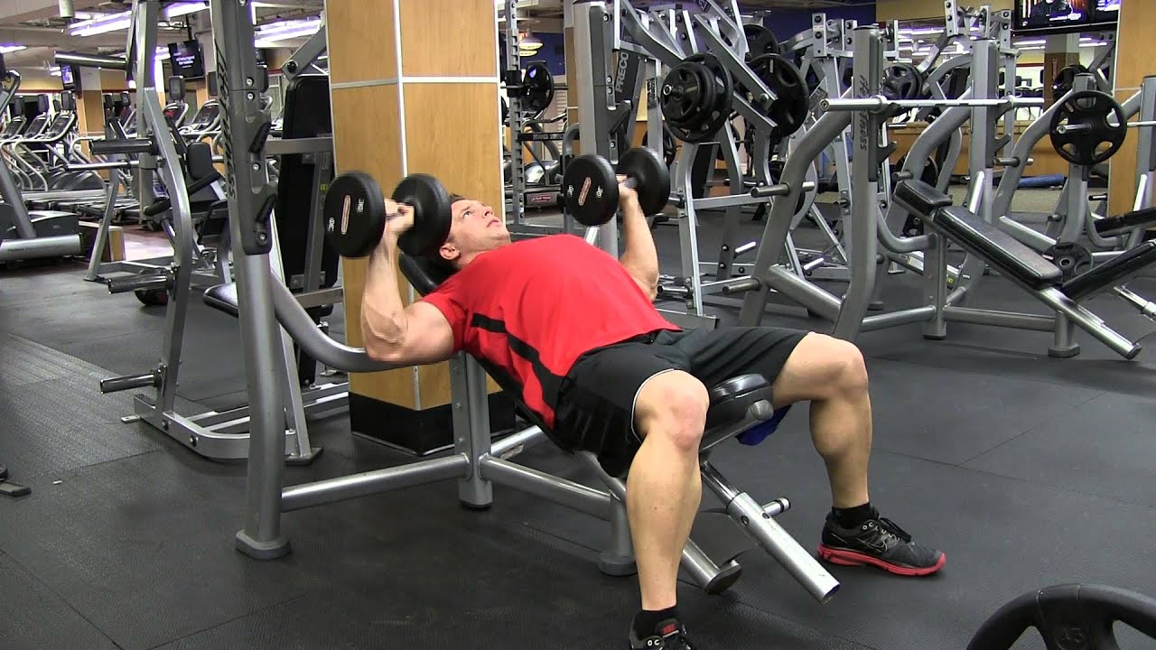 best angle for incline bench press