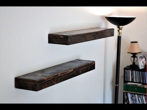 EASIEST Floating Shelves To Make  EVER!