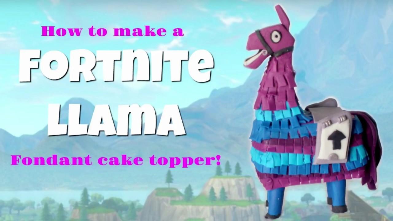 How To Make A Fortnite Llama Fondant Cake Topper Youtube