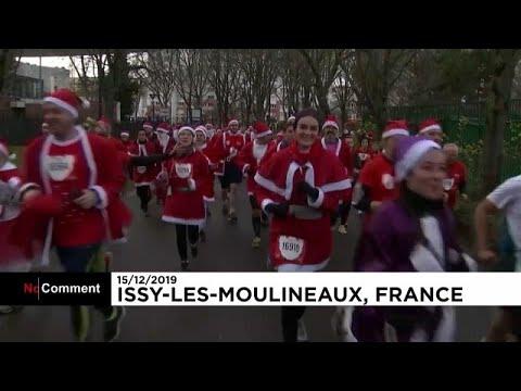 شاهد: سباق خاص بسانتا كلوز في ضواحي باريس لمساعدة الأطفال …  - نشر قبل 5 ساعة