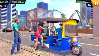 Modern Tuk Tuk Rickshaw Driving - City Mountain Auto Driver - Android Game screenshot 5