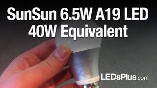 sunsun 6 5w a19 led light bulb 40 watt equivalent