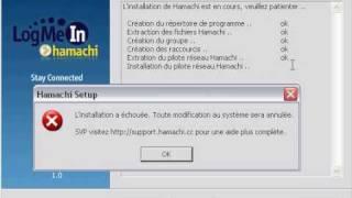 Problème d'installation avec Hamachi 1.0.3.0