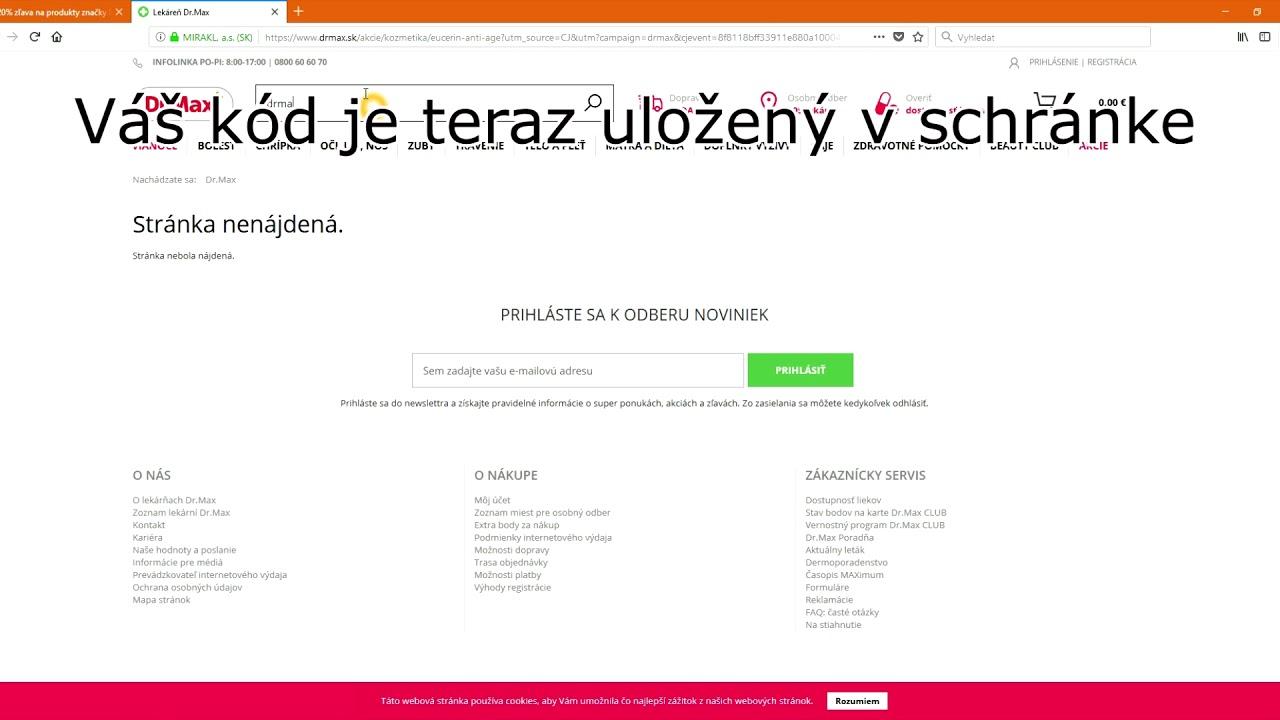 91928d3336 Drmax.sk zľavový kupón - Zlavovykupon.net