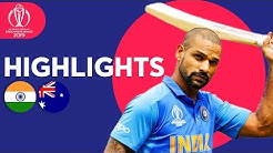 Dhawan Strikes Super Century! | India vs Australia - Match Highlights | ICC Cricket World Cup 2019