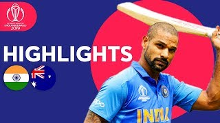 Download Dhawan Strikes Super Century! | India vs Australia - Match Highlights | ICC Cricket World Cup 2019 Mp3 and Videos