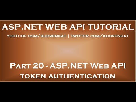 ASP NET Web API token authentication