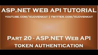 ASP NET Web API token authentication