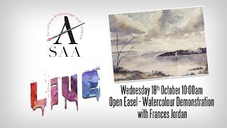 SAA LIVE - Open Easel - Watercolour Scotland Scene with Frances Jordan