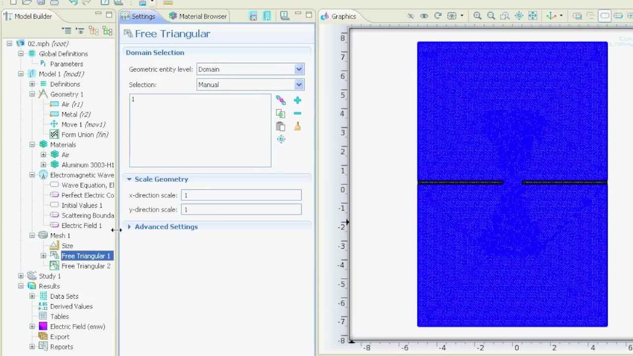 (09) Setting up RF-Physics - COMSOL 4 2 Tutorial