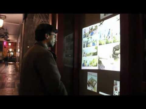 Διαδραστική βιτρίνα βιβλιοπωλείου - Interactive bookstore showcase