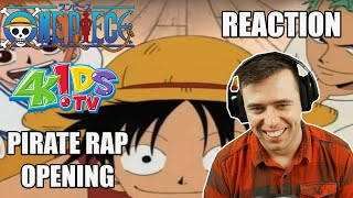 One Piece 4kids Pirate Rap Opening REACTION