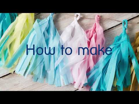 How to make a paper tissue garland   Crafternoon   Mind