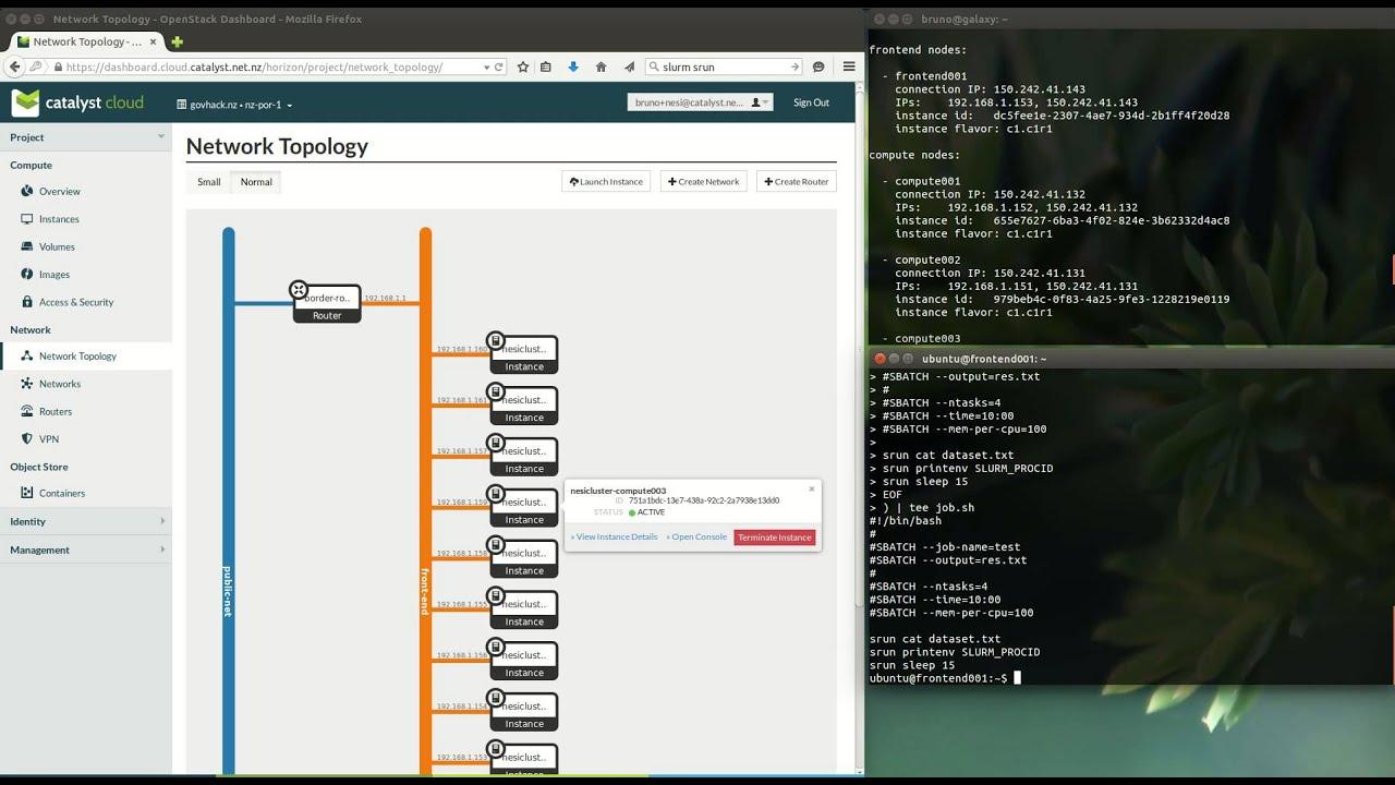 Deploying a HPC SLURM cluster — Catalyst Cloud 1 0 documentation
