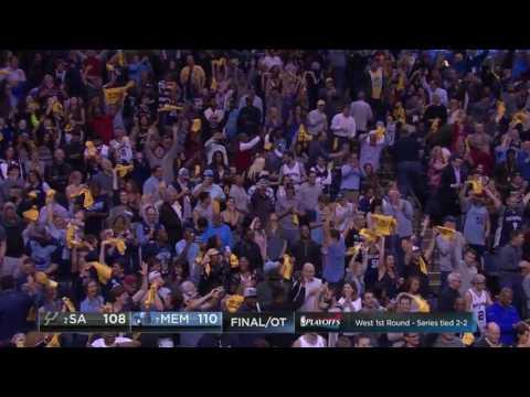Marc Gasol's Game Winner | Playoff 2017 Game 4 | San Antonio Spurs vs Memphis Grizzlies
