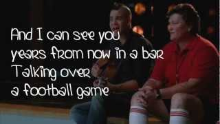 Glee - Mean (Lyrics)