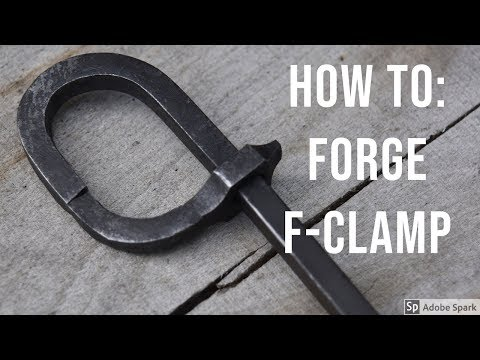 Forging a F-clamp for woodworking