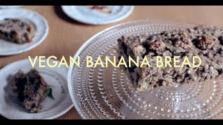 Vegan Banana Bread / Oil & Sugar Free