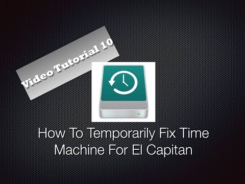 How To Temporarily Fix Time Machine OS X 10.11.2 El Capitan
