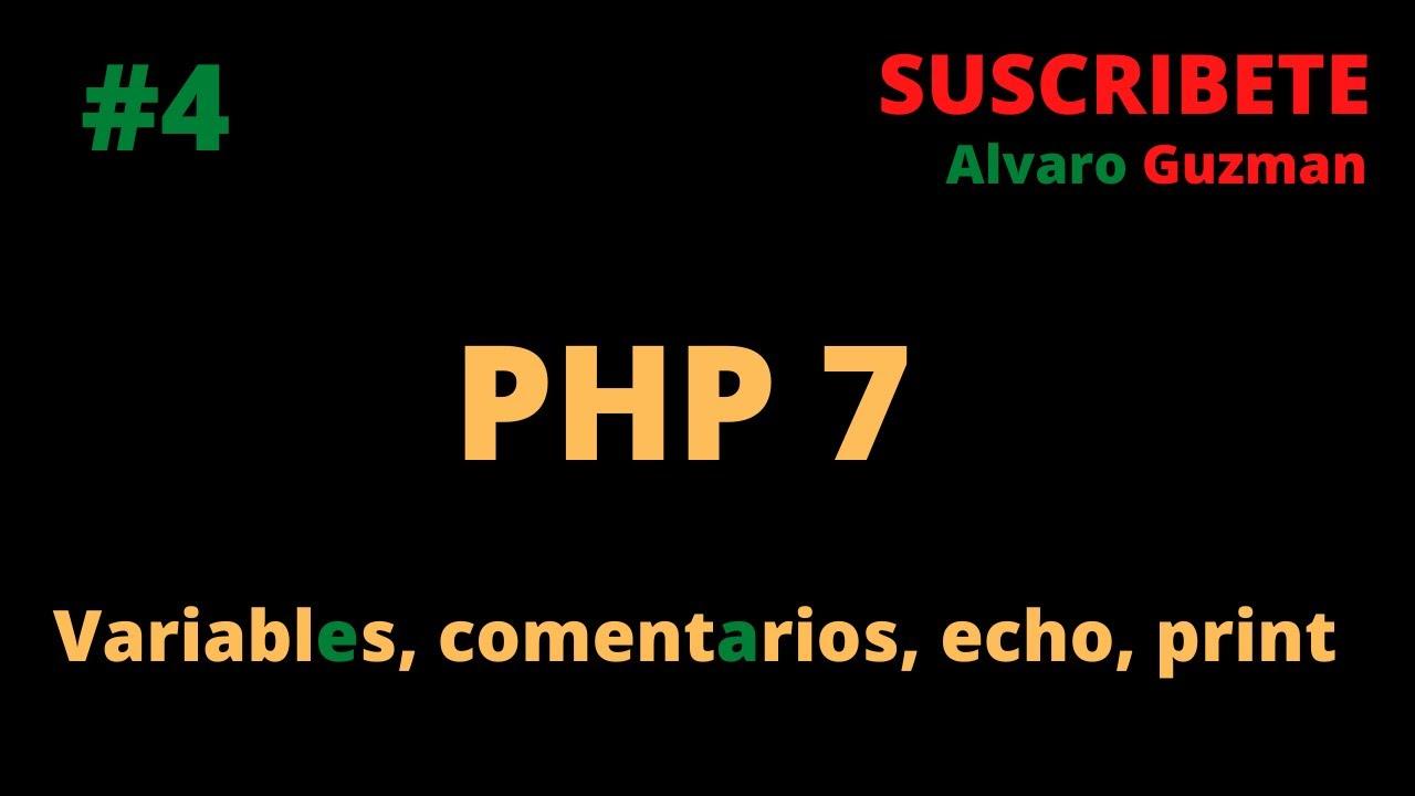 Download Como declarar Variables y Concatenar ,  Comentarios, Tags PHP ,  Función echo y  print.