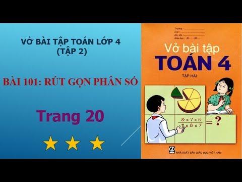 Bài 101 – Rút gọn phân số, trang 20 vở bài tập toán lớp 4 tập 2 I họctoánonline247