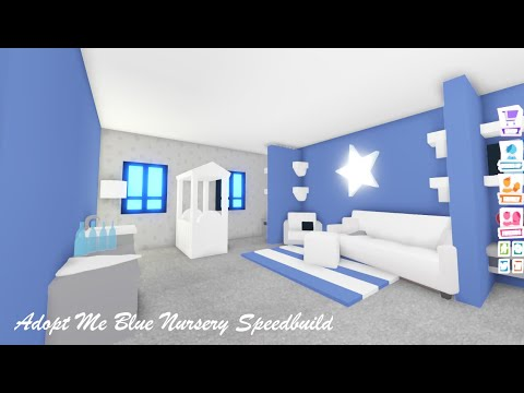 Blue Baby Room Speedbuild Adopt Me Build Hacks Youtube