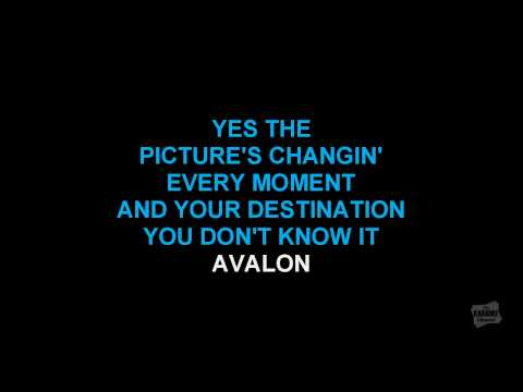 Avalon in the style of Roxy Music karaoke video