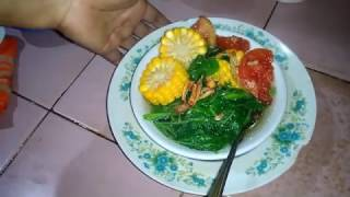 Masak Sayur bayem-Indonesian Food