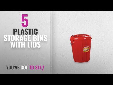 Top 10 Plastic Storage Bins With Lids [2018]: Aristo Multipurpose Plastic Storage Bucket 32 Ltr