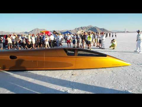 Speed Demon 403mph run at Bonneville Speed Week 2016