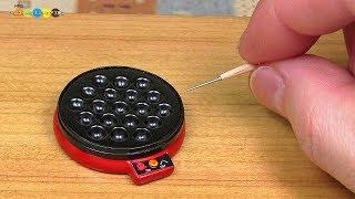 DIY Miniature Electric Takoyaki Pan ミニチュアたこ焼き器作り