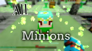 Hypixel Skyblock -- All minions showcase and how to get these