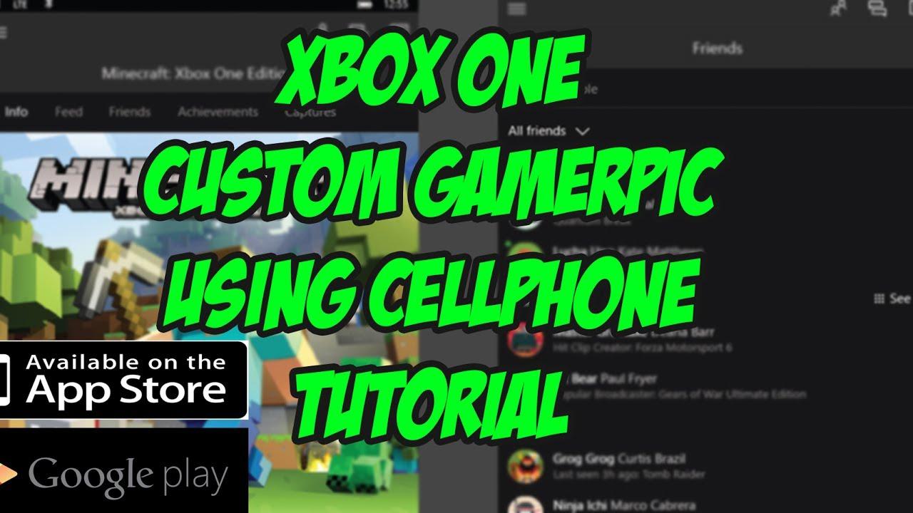 xbox one custom gamerpic using your cellphone xbox beta app