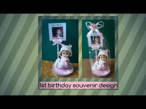 DIY 1st  Birthday Souvenir