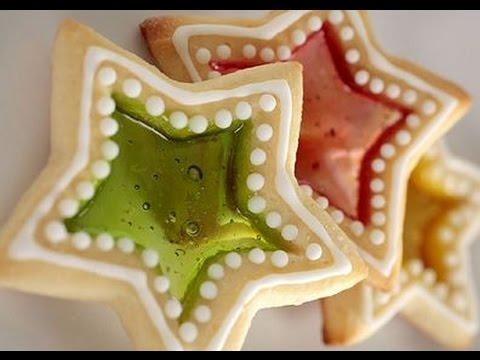 Biscotti Di Natale Effetto Vetro.Biscotti Vetrata Ricetta Per Natale Facili E Veloci Youtube
