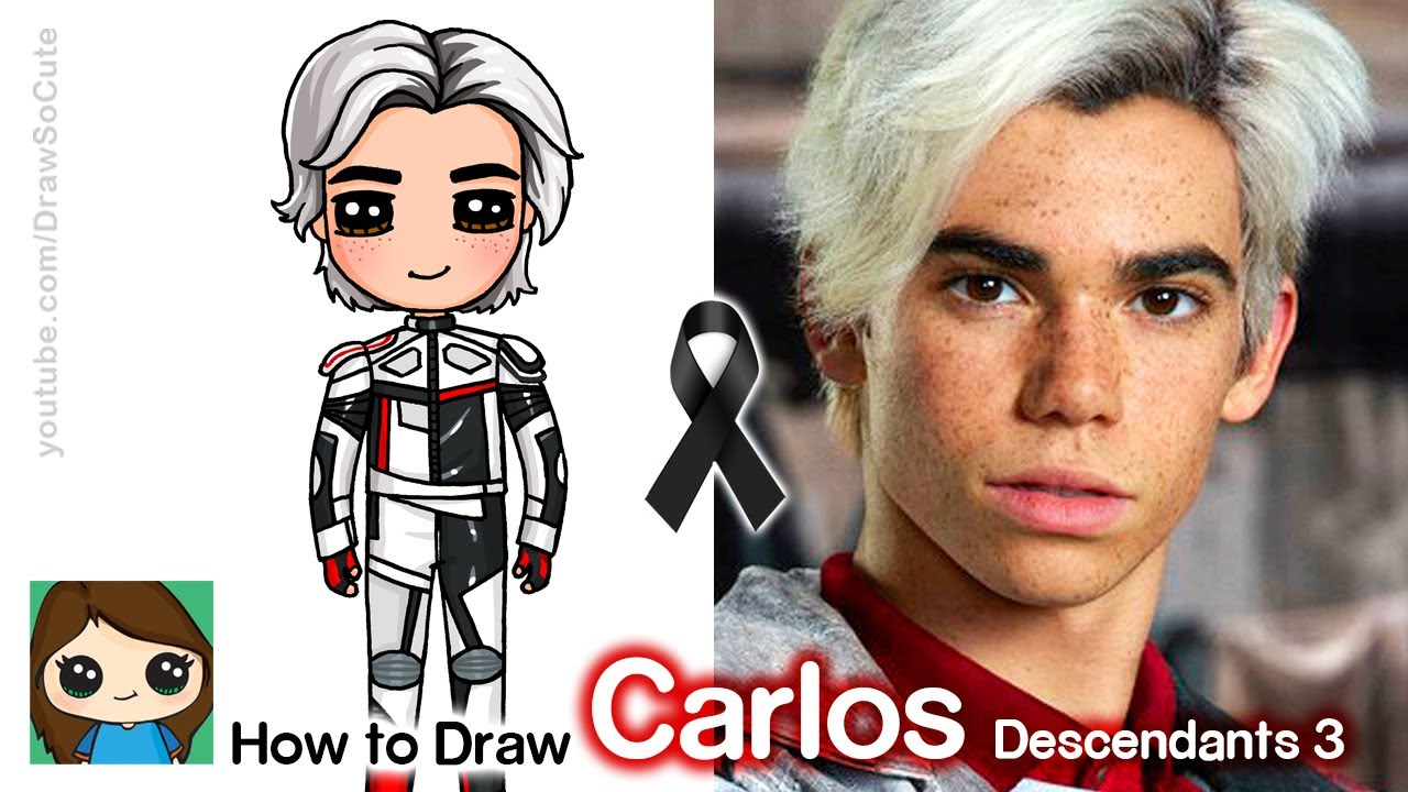 How to Draw Carlos from Descendants 3