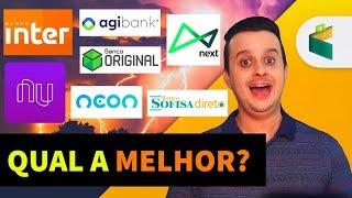 AS 7 MELHORES CONTAS DIGITAIS PARA 2018! Quem vence: Nuconta (Nubank), Banco Inter, Agibank, Neon?