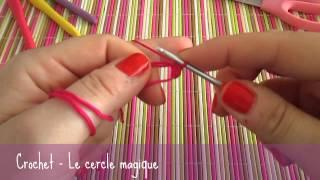 Débuter une création en rond au crochet grâce au cercle magique